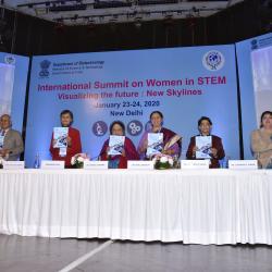 Summit booklet launch at 'International Summit on Women In STEM 2020'