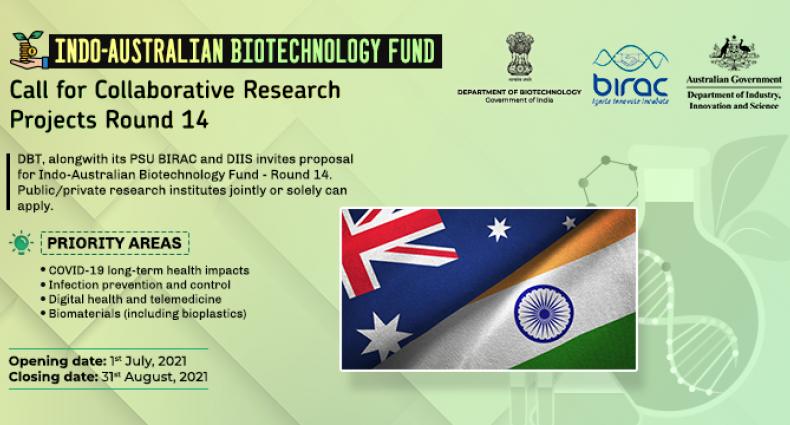 Indo-Australian Biotechnology Fund: Round 14 Call