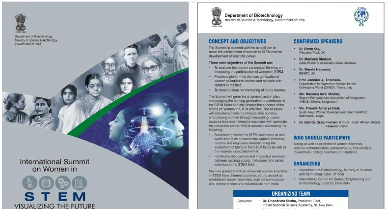 "International Summit on Women in STEM ""Visualizing the Future: New Skylines"" on 23-24 Jan, 2020 at India Habitat Centre, New Delhi"