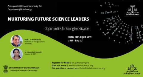 Nurturing Future Science Leaders on Friday, 30- August, 2019