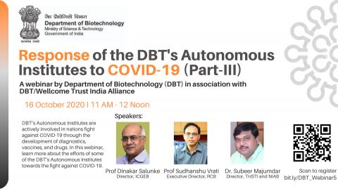 Response of the DBT's Autonomous Institutes to COVID-19 (Part-III)